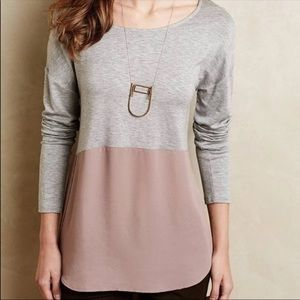 Meadow Rue by Anthropology Long Sleeve Top Size M